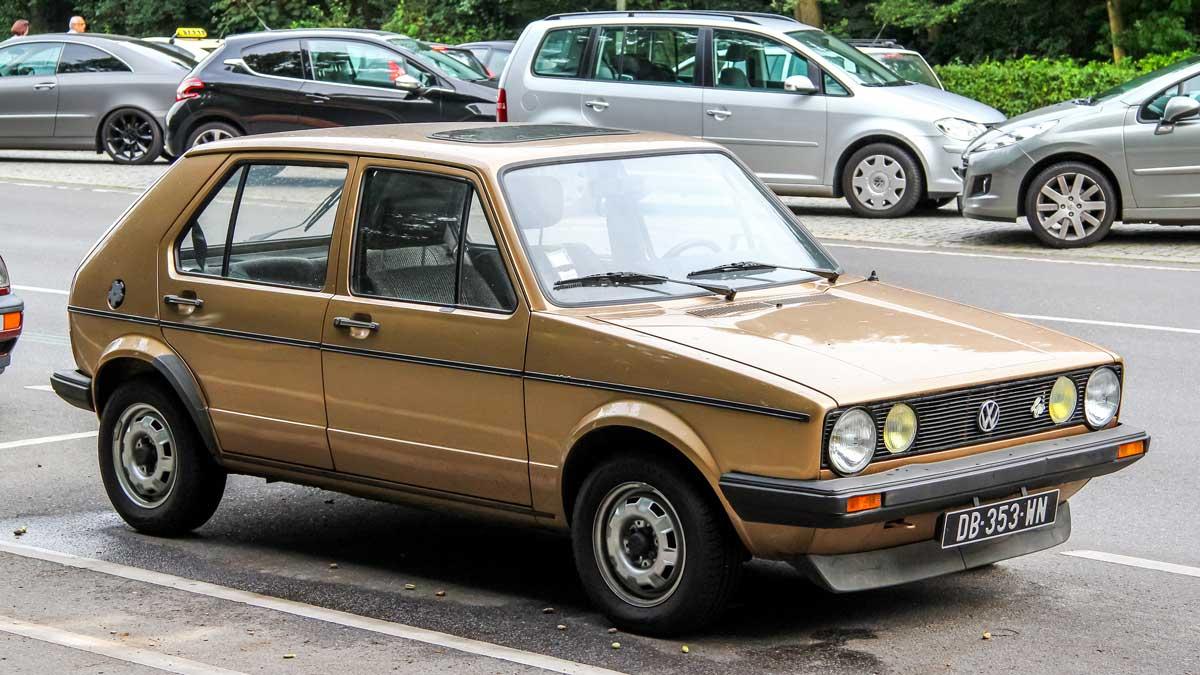 The design classic Volkswagen Golf MK1.