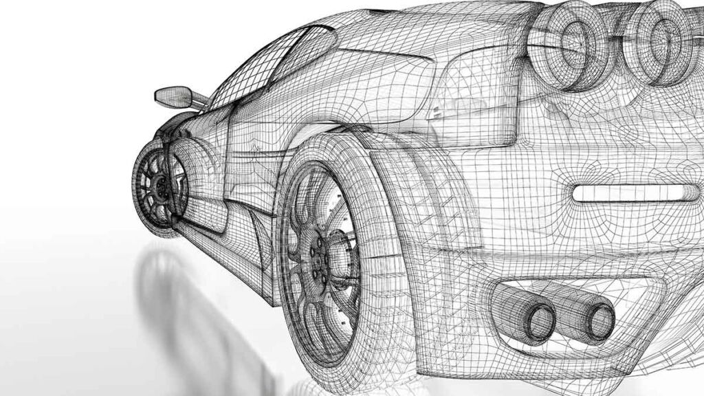 3D rendering of a car